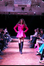 pink launch coat